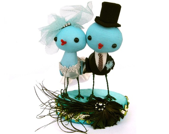 Etsy Blue Bird Cake Topper
