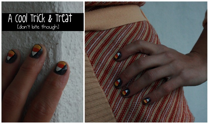 Candy Corn Nails Collage