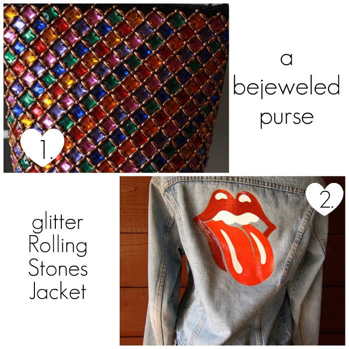 Rolling Stones Jacket and Bejeweled Purse