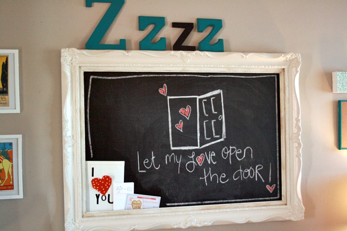 Our Chalkboard Headboard