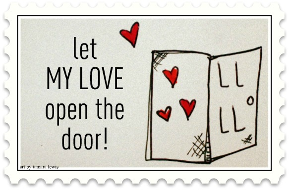 Love Open the Door Valentine