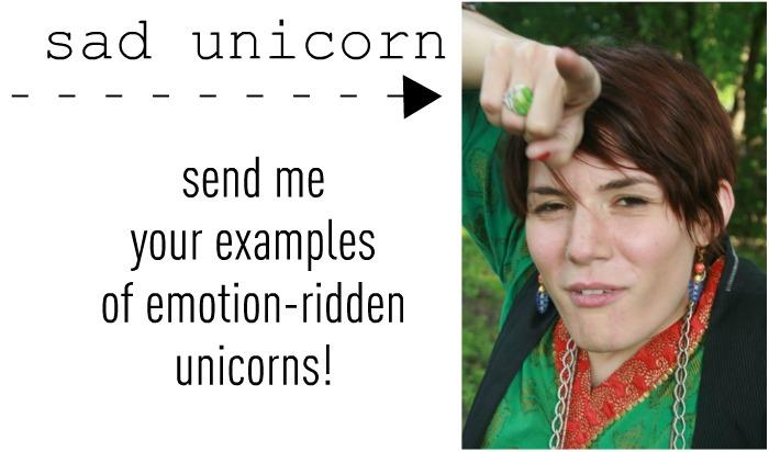 Sad Unicorn Photo