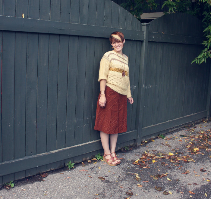 Vintage Fall Outfit 3