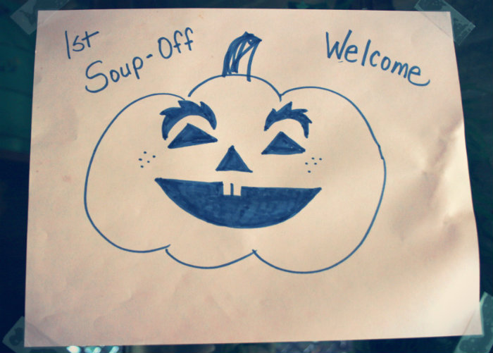 Pumpkin Face Sign for Soup Challenge