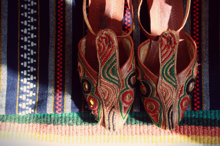 Colourful Shoes + Blanket