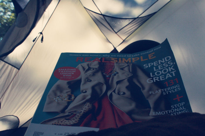Real Simple in the Tent